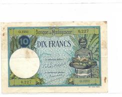 10 Francs Madagascar - Madagascar