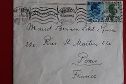 1939      ENVELOPPE           COMPLETE       DE    BUCAREST         POUR    PARIS - 1918-1948 Ferdinand I., Charles II & Michel