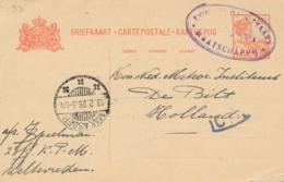 Nederlands Indië - 1926 - LB PAMPANOEA Op Briefkaart Van 2e Off. KPM Via Makasser Naar De Bilt / Nederland - Nederlands-Indië