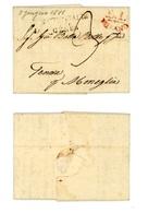 LETTERA PREFILATELICA DA MILANO A MONEGLIA (GE)-GIUGNO 1811 (1A/16B) - Italie