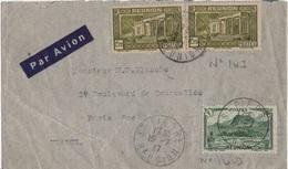 REUNION YT N°140 ET 143 OBLITERES SUR LETTRE - Reunion Island (1852-1975)
