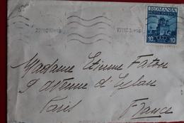 1937      ENVELOPPE       COMPLETE      DE   BUCAREST         POUR    PARIS   EN  FRANCE - 1918-1948 Ferdinand I., Charles II & Michel