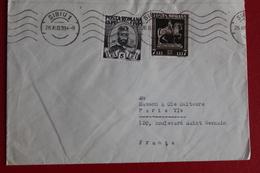 1939      ENVELOPPE         COMPLETE      DE   SIBIU         POUR    PARIS     EN   FRANCE       2   PHOTOS - 1918-1948 Ferdinand I., Charles II & Michel