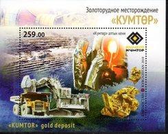 KYRGYZSTAN, 2018, MNH, MINING, KUMTOR GOLD MINE, S/SHEET - Minerals