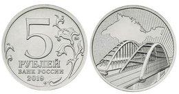 5th Anniversary Of The Reunification Of Crimea With Russia-Crimean Bridge   5 Rubles 2019 UNC - Russie