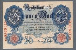 Pick 46 20 Mark 1914  NEUF Et Parfait !!! - 1871-1918: Deutsches Kaiserreich