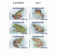 Suriname 2716/21 Grenouilles, Frog - Frösche