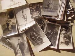 Lot D'une Centaine De Cartes Photos Non Identifiées - Cartes Postales