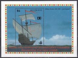 St. Vincent 1992 Geschichte History Entdeckungen Discovery Kolumbus Columbus Schiffe Ships Chicago COLUMBIAN, Bl. 209 ** - St.Vincent (1979-...)