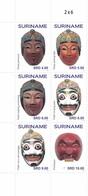 Suriname 2722/27 Masques, Carnaval - Cultures