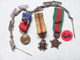 Lot De 3 RÉDUCTIONS  . 1ère Guerre . 1 En Argent Avec Rosace . - France