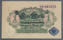 Pick 52  1 Mark 1914 Sigle Bleu UNC - 1871-1918: Deutsches Kaiserreich