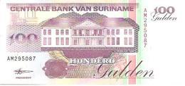 Suriman  P-139b  100 Gulden  1998 UNC - Surinam