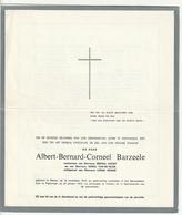 Doodsbrief Albert BARZEELE Wed Kinget Van De Velde Echtg. Ooghe Watou 1914 Poperinge 1975 Boudeweel Brutsaert Quaghebeur - Décès