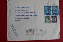 1934      ENVELOPPE            COMPLETE      BUCAREST         POUR     PARIS - 1918-1948 Ferdinand I., Charles II & Michel