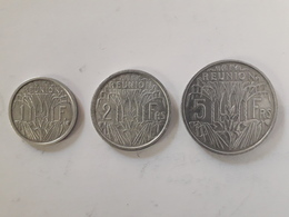 1, 2 Et 5 Francs Réunion 1948 Et 1955 - Réunion