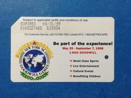 GOODWILL GAMES NEW YORK USA STATI UNITI SCHEDA CARTA TESSERA USATA METROCARD MTA INGRESSO METRO TRENI BUS USED CARD - Abbonamenti