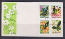 Papua New Guinea 1975 Butterflies FDC(ARAWA Cancellation) - Papouasie-Nouvelle-Guinée