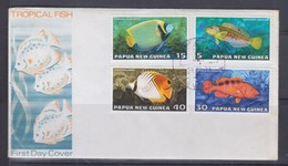 Papua New Guinea 1976 Tropical Fish FDC(ARAWA Cancellation) - Papouasie-Nouvelle-Guinée