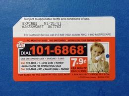 PT1 COMUNICATIONS TELECOM USA STATI UNITI SCHEDA CARTA TESSERA USATA METROCARD MTA INGRESSO METRO TRENI BUS USED CARD - Abbonamenti