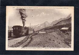74 Chemin De Fer Du Mont-Blanc Station Du Mont-Lachat Conduisant Au Glacier De Bionnassay EDIT L.MORAND Année 1935 - Eisenbahnen