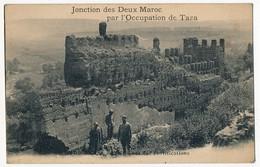 CPA - MAROC - TAZA - Jonction Des 2 Maroc... Ruines Des Fortifications + Cachet 113eme Territorial D'Infanterie / 211 - Maroc