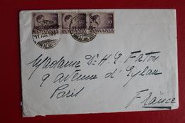 1946     ENVELOPPE          COMPLETE      BUCAREST         POUR    PARIS - 1918-1948 Ferdinand I., Charles II & Michel
