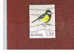 NORVEGIA  (NORWAY)    SG 858.859  -   1980   BIRDS: PARUS MAJOR -   USED ° - Usati