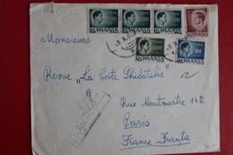 1946     ENVELOPPE          COMPLETE      BUZAU        POUR    PARIS - 1918-1948 Ferdinand I., Charles II & Michel
