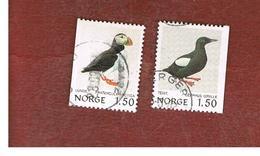NORVEGIA  (NORWAY)    SG 870.872  -   1981   BIRDS  -   USED ° - Norvegia