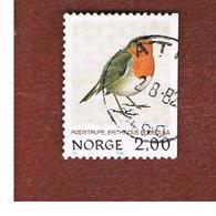 NORVEGIA  (NORWAY)    SG 895  -   1982   BIRDS: EUROPEAN ROBIN      -      USED ° - Norvegia