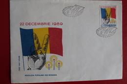 1989     ENVELOPPE  PREMIER  JOUR  22  DECEMBRE  1989 - 1948-.... Républiques
