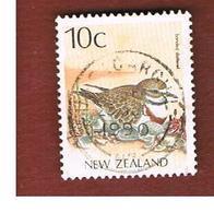 NUOVA ZELANDA (NEW ZEALAND) - SG 1460 -  1988 NATIVE BIRDS: DOUBLE-BANDED PLOVER   -  USED° - Nuova Zelanda
