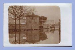 Carte Photo - Inondations 1910 - Paris 15e (75) - 02. Sté L'Eclairage Electrique - Rues Lecourbe / Leblanc - Inondations De 1910