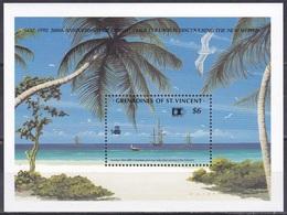 St. Vincent Grenadinen Grenadines 1992 Entdeckungen Discovery Kolumbus Columbus Strände Palmen COLUMBIAN, Bl. 98 ** - St.Vincent & Grenadines