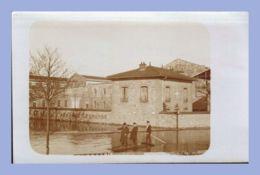 Carte Photo - Inondations 1910 - Paris 15e (75) - 04. Sté L'Eclairage Electrique - Rues Lecourbe / Leblanc - Inondations De 1910