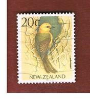 NUOVA ZELANDA (NEW ZEALAND) - SG 1461 -  1988 NATIVE BIRDS: YELLOWHEAD   -  USED° - Nuova Zelanda