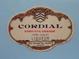 CORDIAL Liqueur > Etiketten / Etiquettes De Collectionneur / Verzamelaar De Regio > MENIN / MENEN > Detail Zie Foto ! - Autres