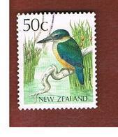 NUOVA ZELANDA (NEW ZEALAND) - SG 1464 -  1988 NATIVE BIRDS: SACRED KINGFISHER   -  USED° - Nuova Zelanda