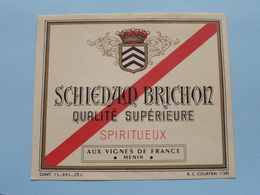 SCHIEDAM BRICHON > Etiketten / Etiquettes De Collectionneur / Verzamelaar De Regio > MENIN / MENEN > Detail Zie Foto ! - Autres