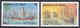 St. Vincent Grenadinen Grenadines 1992 Entdeckungen Discovery Kolumbus Columbus Schiffe Ships Nina Pinta, Mi. 962-3 ** - St.Vincent & Grenadines