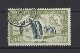 T.A.A.F.  YT  PA N° 2  Obl  1956 - Poste Aérienne
