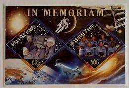 HAITI Issued: Jun 12, 2006 Legendary Spaceships: Death In Space.  Soyuz 11, Challenger Crew - Space
