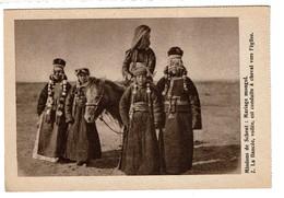 Mongolie - Mariage Mongol - La Fiancée Voilée Est Conduite à Cheval à L'église - 2 Scans - Mongolie