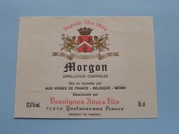 MORGON > Etiketten / Etiquettes De Collectionneur / Verzamelaar De Regio > MENIN / MENEN > Detail Zie Foto ! - Autres