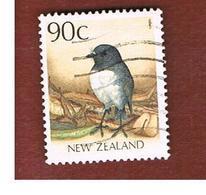 NUOVA ZELANDA (NEW ZEALAND) - SG 1468 -  1988 NATIVE BIRDS: ROBIN  -  USED° - Nuova Zelanda