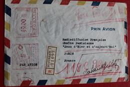 1948     ENVELOPPE    RECOMMANDEE   COMPLETE    DE    BUCAREST  POUR    PARIS    2   PHOTOS - 1948-.... Républiques
