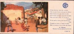 Ancien BUVARD Illustré  C.E.I.M  Pelote Basque - Buvards, Protège-cahiers Illustrés