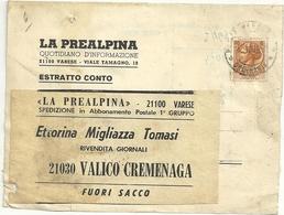 QUOTIDIANI  LA  PREALPINA    1970  VARESE  X  CREMENAGA - Italia