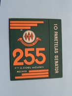 255 Omhulsel / Doos > Etiketten / Etiquettes De Collectionneur / Verzamelaar De Regio > MENIN / MENEN > Detail Zie Foto - Sigaren - Toebehoren